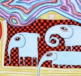 Seven elephants