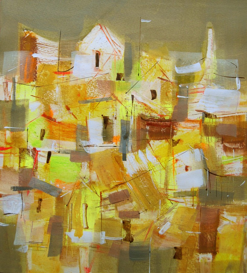 Landscape in yellow